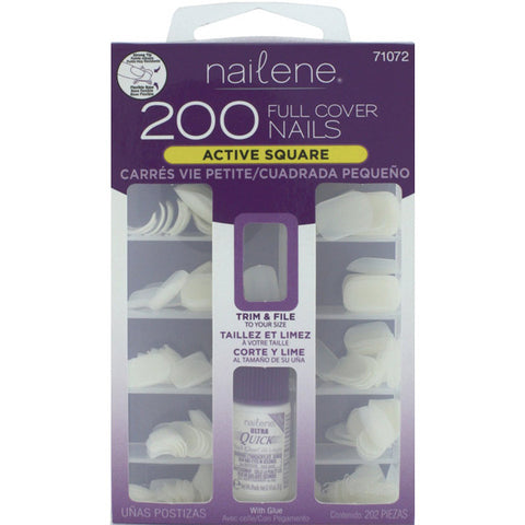 NAILENE - Full Cover Nails Active Square with Glue