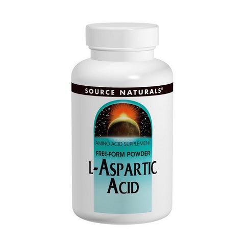 Source Naturals L Aspartic Acid 1 9 g Powder