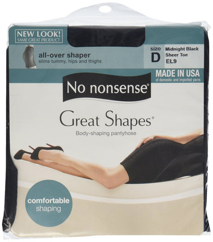 NO NONSENSE - Body Shaping Pantyhose Midnight Black Size D