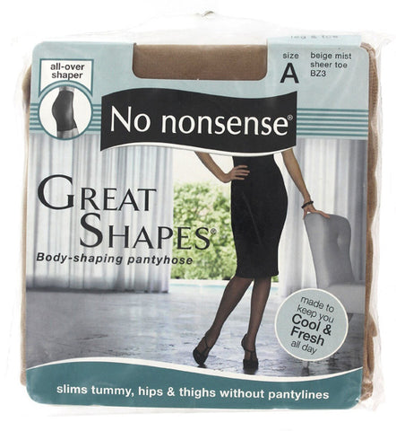 NO NONSENSE - Body Shaping Pantyhose Beige Mist Size A