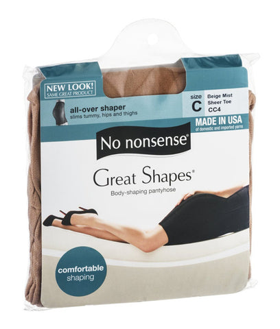 NO NONSENSE - Body Shaping Pantyhose Beige Mist Size C