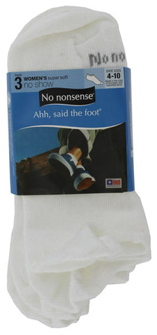 NO NONSENSE - Women's Super Soft No Show Socks White
