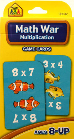 SCHOOL ZONE - Math War Multiplication Game Cards