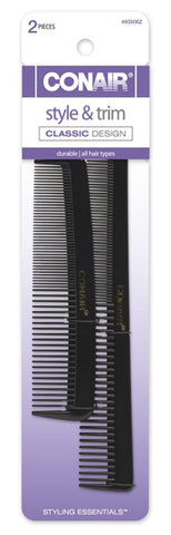 CONAIR - Pocket and Barber Comb Hard Rubber