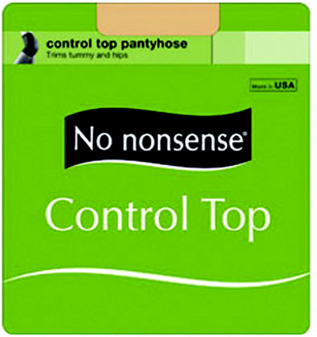NO NONSENSE - Women's Control Top Reinforced Toe Pantyhose Size Q Nude