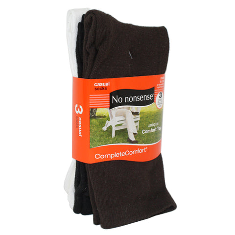 NO NONSENSE - Complete Comfort Cotton Flat Knit Crew Socks Black