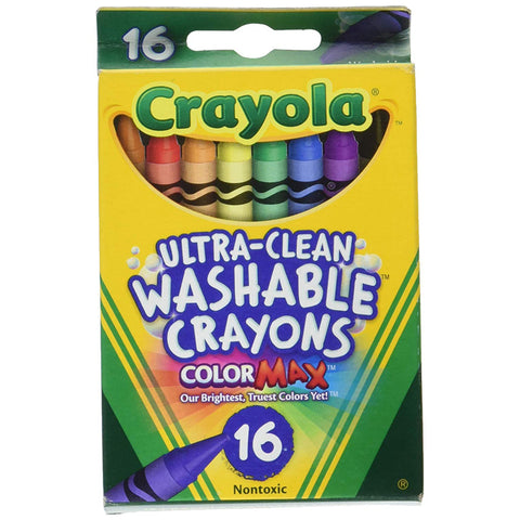 CRAYOLA - Ultra-Clean Washable Crayons, Regular