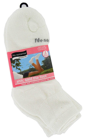 NO NONSENSE - Soft and Breathable Cushioned Quarter Top Socks White
