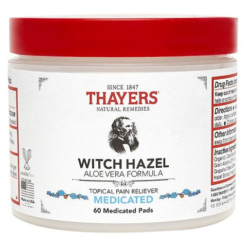 Thayers Medicated Superhazel Aloe Vera Astringent Pads
