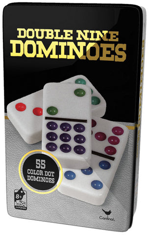 CARDINAL INDUSTRIES - Double Nine Color Dot Dominoes