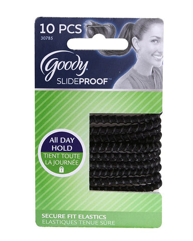 GOODY PRODUCTS - Slide Proof Stayput Black Elastics 4 mm