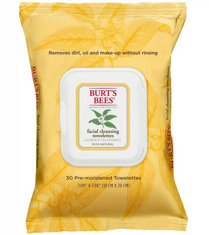 BURT'S BEES - Facial Cleansing Towelettes with White Tea Extract