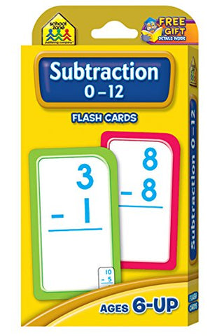 SCHOOL ZONE - Subtraction 0-12 Flash Cards