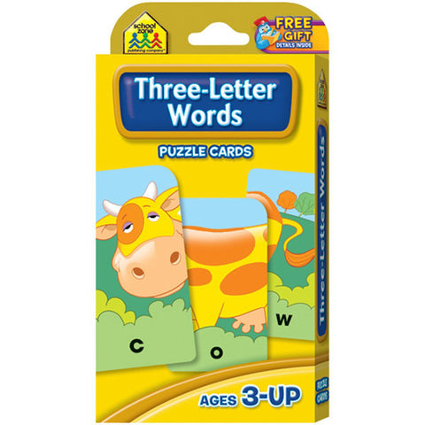 SCHOOL ZONE - Three-Letter Words Puzzle Cards