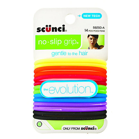 SCUNCI - No-slip Grip Evolution Bright Jelly Ponytailers