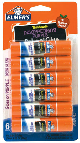 ELMER'S - Disappearing Purple School Glue Sticks