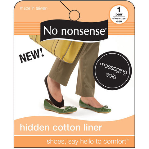 NO NONSENSE - Shoe Solutions Hidden Cotton Liner Socks Black