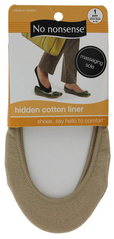 NO NONSENSE - Shoe Solutions Hidden Cotton Liner Nude
