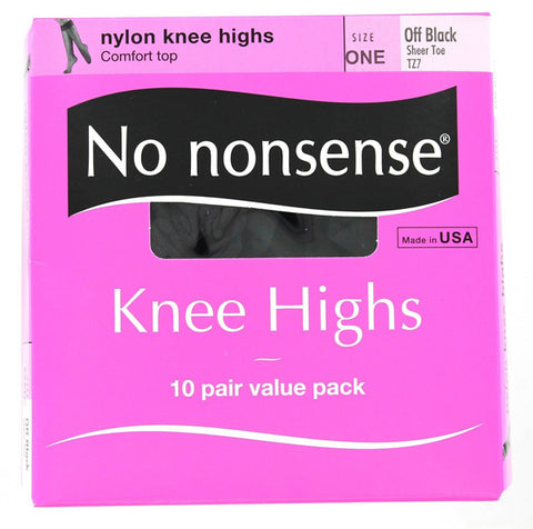 NO NONSENSE - Knee Highs Off Black