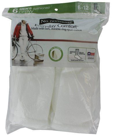 NO NONSENSE - Men's Crew Socks White