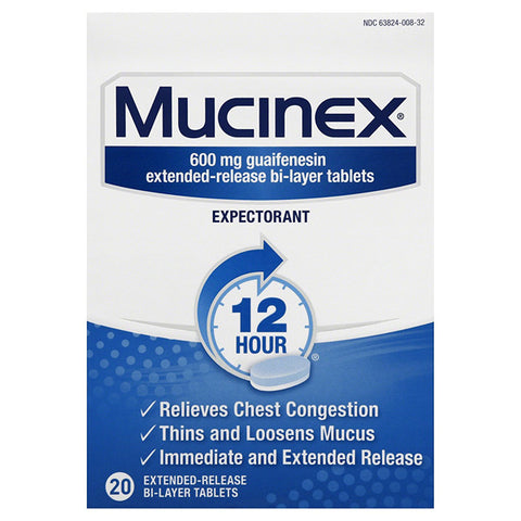 MUCINEX - 12-Hour Chest Congestion Expectorant