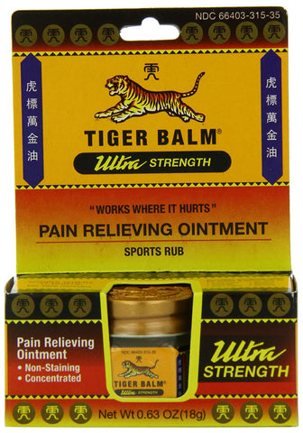 Tiger Balm Ultra Strength Pain Relieving Ointment