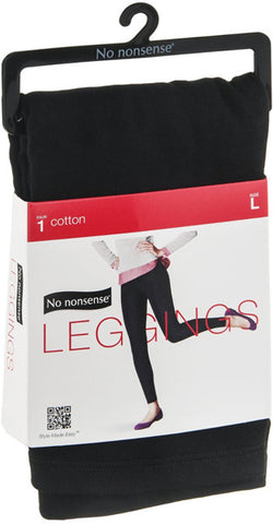 NO NONSENSE - Cotton Leggings Black Large