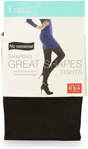 NO NONSENSE - Great Shapes Opaque Shaping Tight Black Small