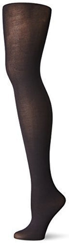 NO NONSENSE - Silky Opaque Sheer to Waist Tight Black Large