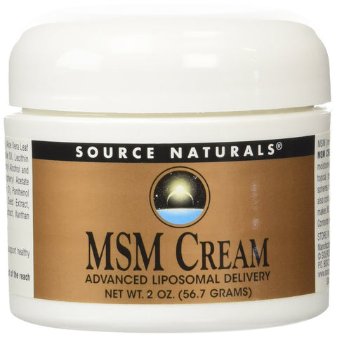 SOURCE NATURALS - MSM Cream, Advanced Liposomal Delivery