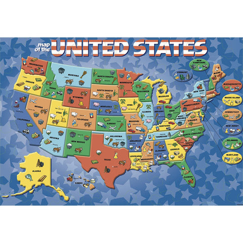 CARDINAL INDUSTRIES - USA Map Puzzle