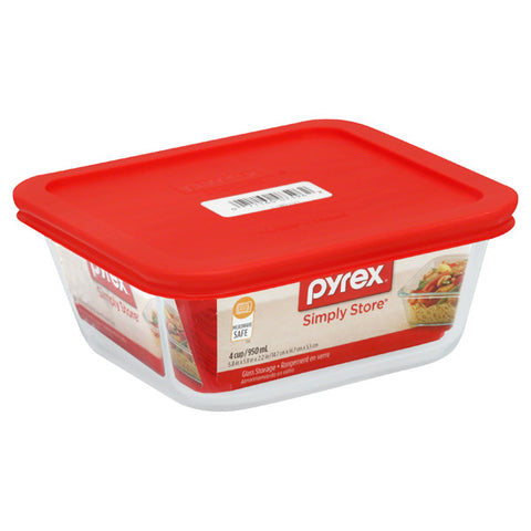 WPYREX - Simply Store Square Dish with Red Lid