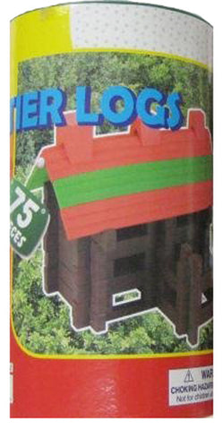 HOMEWARE - Real Wood Toys Frontier Logs Stack & Build Set