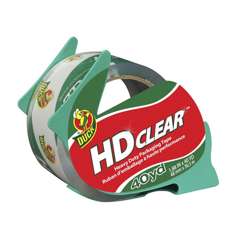 DUCK - HD Clear Heavy Duty Packaging Tape With Dispenser Single Roll Clear