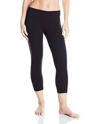 NO NONSENSE - Women's Cotton Capri Legging Small Black