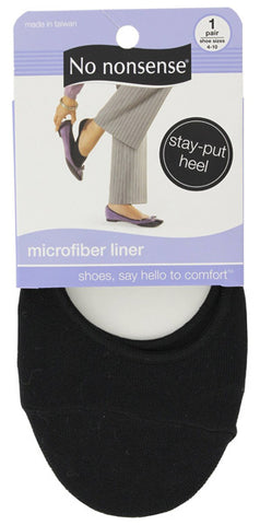 NO NONSENSE - Microfiber Liner Socks Black