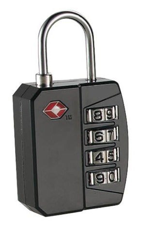 TRAVEL SMART - 4-Dial Combination Lock