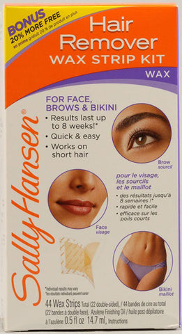 SALLY HANSEN - Wax Strips Hair Remover Kit For Face, Brows & Bikini