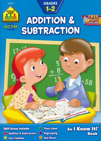 SCHOOL ZONE - Addition and Subtraction 1-2 Workbook