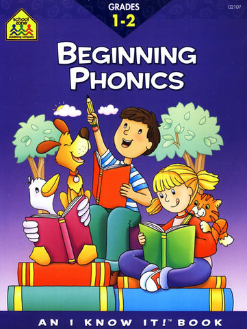 SCHOOL ZONE - Beginning Phonics Grades 1-2 Workbook