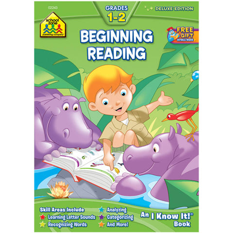SCHOOL ZONE - Begining Reading Grades 1-2 Workbook