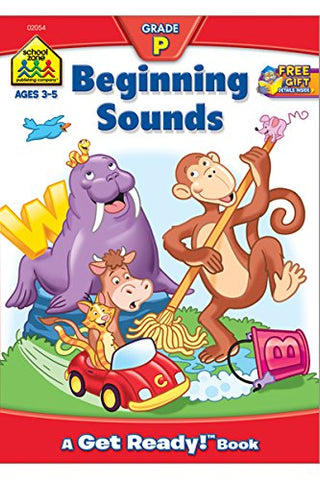 SCHOOL ZONE - Beginning Sounds Get Ready Books