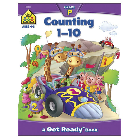 SCHOOL ZONE - Preschool Workbooks Counting 1-10