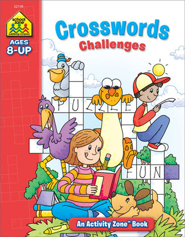 SCHOOL ZONE - Crosswords Challenges Activity Zone Workbook