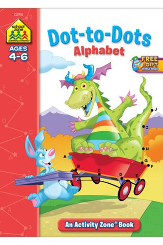 SCHOOL ZONE - Dot-to-Dots Alphabet Activity Zone Workbook