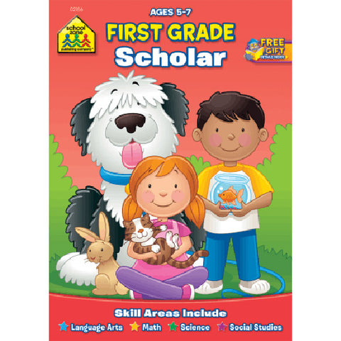 SCHOOL ZONE - First Grade Scholar Workbook