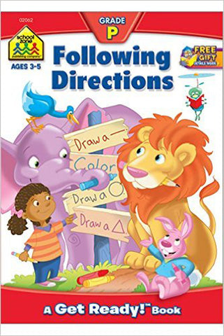 SCHOOL ZONE - Following Directions Workbook