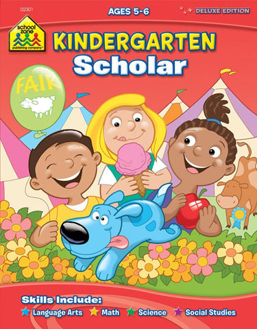 SCHOOL ZONE - Kindergarten Scholar Workbook