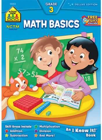 SCHOOL ZONE - Math Basics 3 Workbook