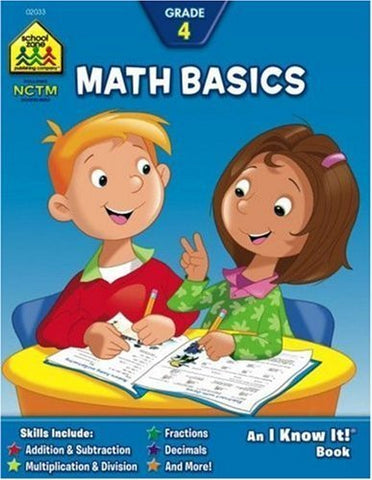 SCHOOL ZONE - Math Basics 4 Workbook